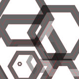Vector background of large colored hexagons eps.  Royalty Free Stock Image