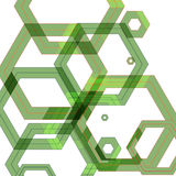 Vector background of large colored hexagons eps Royalty Free Stock Images