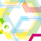 Vector background of large colored hexagons eps.  Royalty Free Stock Photos