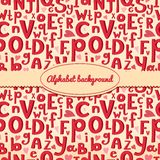Vector background with Latin letters of different Stock Photos