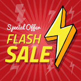 Vector background with lightning, flash sale spesial offer banner, vector illustration Stock Images