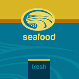 Vector background and logo label. Oceanside Royalty Free Stock Images