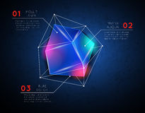 Vector background with low poly polygonal glowing Stock Images
