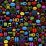 Vector background made from colorful network icons Stock Images