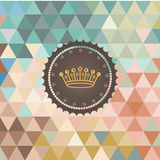 Vector background made of triangles. Retro label Royalty Free Stock Photo