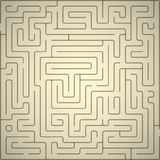 Vector background with maze. Stock Photography