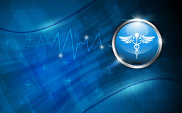 Vector background medical health care concept Stock Image