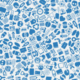 Vector background of the medicine icons Royalty Free Stock Image
