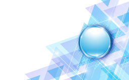 Vector background modern blue tech innovation concept and metallic button Royalty Free Stock Photo