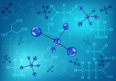 Molecules and chemical formulas Stock Photo