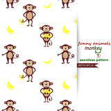 Vector background with monkeys. Stock Images