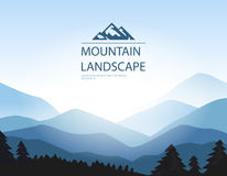 Vector background with mountains. Royalty Free Stock Photos
