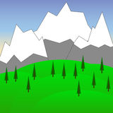 Vector Background with Mountains  1 Royalty Free Stock Image
