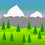 Vector Background with Mountains  4 Stock Image