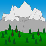 Vector Background with Mountains  2 Royalty Free Stock Image