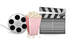 Vector of background of movie related. Vector illustration of background of movie related items Royalty Free Stock Photos
