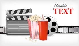 Vector of background of movie related. Vector illustration of background of movie related items Royalty Free Stock Photography