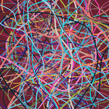 Vector background with moving colorful lines. Bright background of curves lines. With a lot of colors Stock Photo