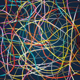 Vector background with moving colorful lines. Bright background of curves lines with a lot of colors Stock Photography