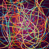 Vector background with moving colorful lines. Bright background of curves lines with a lot of colors Stock Images