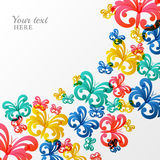 Vector background with multicolor butterflies. Stock Image