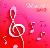 Vector background with music notes and key Stock Photos