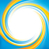Vector background. National Ukrainian colors: yellow and cyan Stock Photography