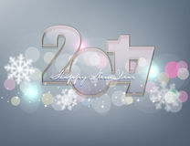 Vector background for the New Year. Glass figures 2017 Stock Image