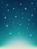 Vector background with night, stars in the sky, shining light Stock Images