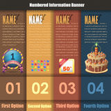 Vector Background Number Options Banner & Card. Vector background. This file also was saved EPS10 that you can modify it Stock Images