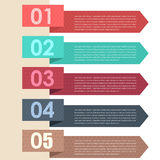 Vector Background Number Options Banner & Card Royalty Free Stock Image