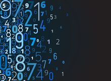 Vector background from numbers Royalty Free Stock Photos
