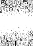 Vector background from numbers Stock Image