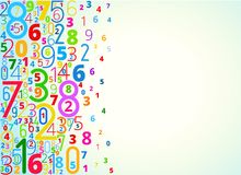 Vector background from numbers stock illustration
