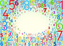 Vector background from numbers Stock Photo