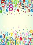 Vector background from numbers Stock Images