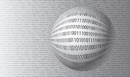 Free Vector Background Of Binary Numbers Royalty Free Stock Photos - 22364388