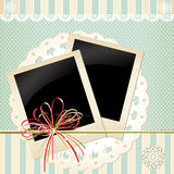 Vector background with old photos Royalty Free Stock Photography