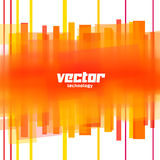 Vector background with orange blurred lines Stock Photos