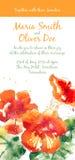 Vector background with orange watercolor nasturtium Stock Image