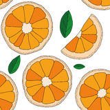 Vector background. Oranges fruit seamless pattern Royalty Free Stock Photo