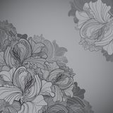 Vector background with ornament of the grayscale Royalty Free Stock Photo