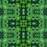 Vector background ornamental green tile in South American folklore  style Royalty Free Stock Photo