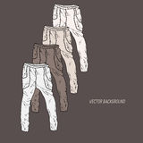 Vector background with pants Royalty Free Stock Photos