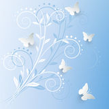 Vector background with paper butterflies. Vector background with paper butterflies Royalty Free Stock Photo
