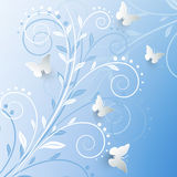 Vector background with paper butterflies. Vector background with paper butterflies Royalty Free Stock Photography