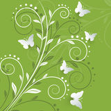 Vector background with paper butterflies. Vector background with paper butterflies Royalty Free Stock Photos