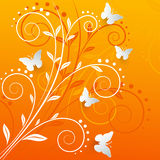 Vector background with paper butterflies. Vector background with paper butterflies Royalty Free Stock Images