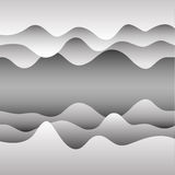 Vector background with paper waves. For web sites, presentations and your design Royalty Free Stock Photos