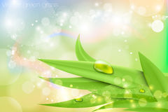 Vector background in pastel colors with green Stock Image